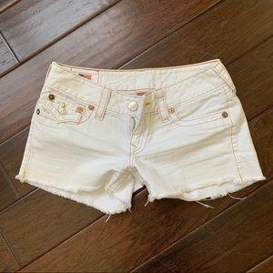 White Denim Jean Shorts